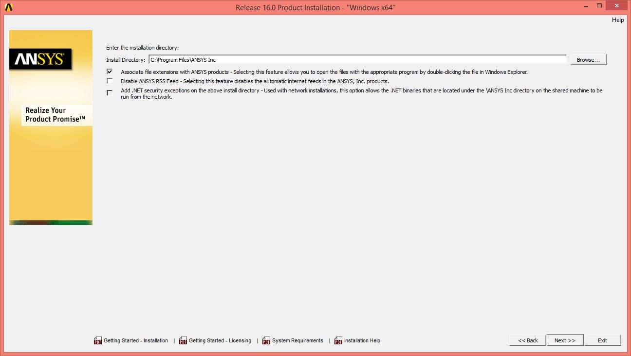 ANSYS 16 Installation Instructions