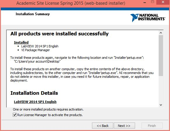 LabVIEW Spring 2015 Instructional License Installation