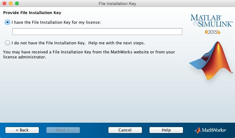 matlab 2015b installation key