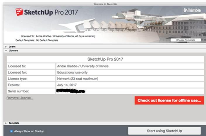 sketchup pro 2017 license key mac